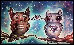 owl valentine by Oo-Whisper-oO