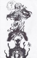 Symbiote Spidey: Transformation by ProjectDJ