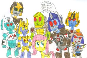 Fluttershy, Honorary Maximal by SithVampireMaster27