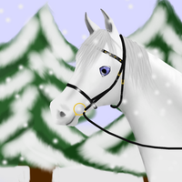 Snowbell and snow by Elineeey