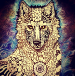 Zentangle Wolf by Self-Eff4cing