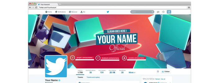Twitter Cover  2014 header template .psd by AlbaniaGraphicDesign