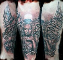 angel girl by tattooneos