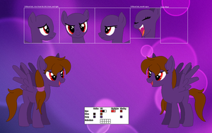 Nightmare Sonet's official reference sheet by Starlollipop
