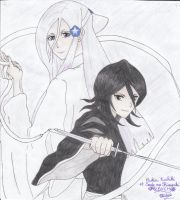 Rukia and Sode no Shirayuki by Miyakun6