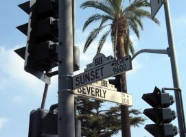 Sunset on Beverly Hills by jix
