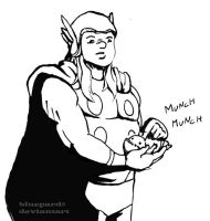 Thor Holds a Baby by bluepard2