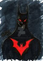Batman Beyond Sketch Card by soulshadow