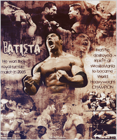 Batista ~ in 2005 ~ Poster by MhMd-Batista