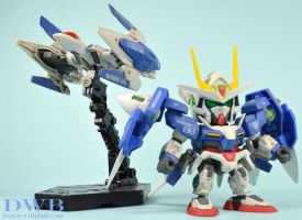 SD 00 Gundam with 0 Raiser by Bang-Doll-SSI