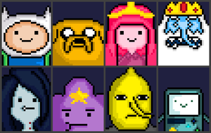 Adventure Time: Select your Character! by general-abe