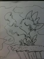 smoking on a hill in the clouds. by Dscapades