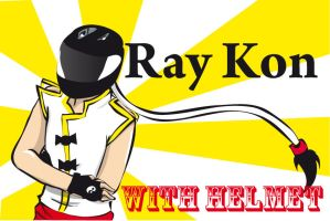 ray kon with helmet by spunkydragon