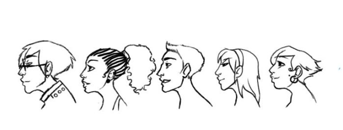 profile lineart by dreaminglagoon
