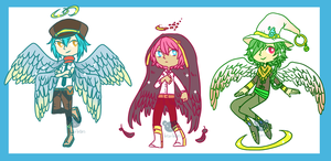Angel Mania Adoptables [auction.closed] by beartachi