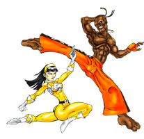 Dee Jay vs Yellow Ranger Trini by Toadman005