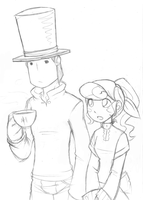Layton and Flora by Inverted-Mind-Inc