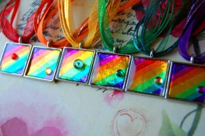 Shiny Rainbow Necklaces by OcularFracture