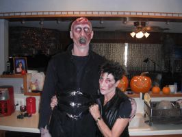 The Frankenstein Monster and his Bride by badtothebonechick13