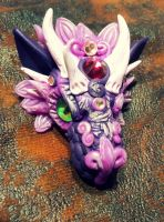 Purple Shades Dragon Pendants by AstridMakosla