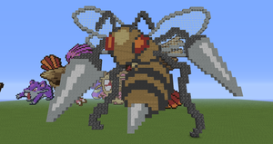 Minecraft Pokemon #015 Beedrill by Sherio88