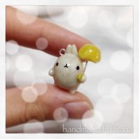 Molang with umbrella charm by HanaHermione