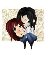 Chibis_Hunter and Vampire by RayNoir