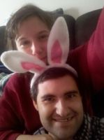 Me and my Playgirl bunny by Mythhunter
