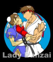 Ryu and Chun Li Thumbnail by LadyBanzai