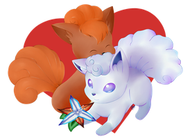 A Vulpix Valentine by Blue-Scribble