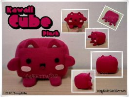 Kawaii Cube Plush by SongAhIn