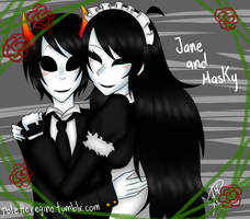 Jane and Masky by iPsychopath