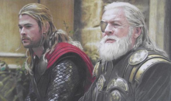 Thor II The Dark World: Thor And Odin by Starfire-Productions
