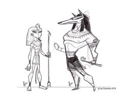 Egyptian Doodles by 2Ajoe