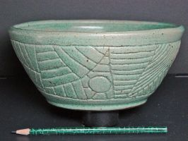 Turquoise Bowl - Outside by fizzfoam