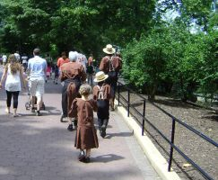 Amish Family at the Zoo by Urceola