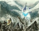 A wild Lugia appeared ! by zimus