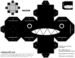 Chain Chomp Cubeecraft by Mariorocks655
