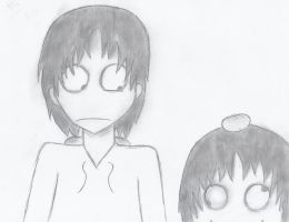 Jeff Killer and Potato (Drawing) by Americanaooni