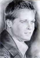 BRAD PITT by 0Michelangelo0