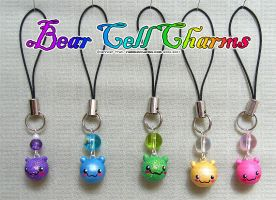 Bears Bears Bears Cell Charms by xlilbabydragonx