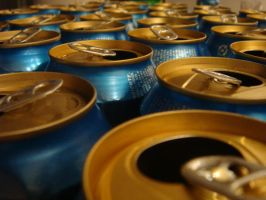 Stock - Empty beer cans 01 by lordmanchae
