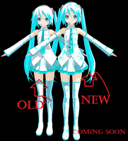 Snowflake miku Old And New by deangagaTR
