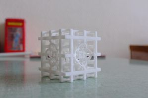 Plastic 3D printed fractal model by nic022