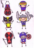 Marvel Minis by Behomby