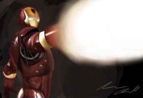 Iron Man blast by sudafreekan