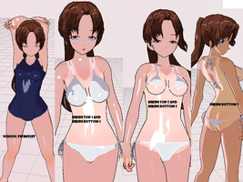 3DCG Swimsuits by MMDxDespair