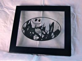Nightmare Before Christmas Papercut by ladysilver2267