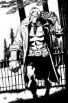 Hellboy in the Tall Pines by deankotz