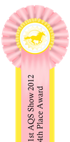 1st AQS Show 2012 4th Place Ribbon by AgentQStables